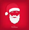 santa claus carved from paper origami style vector image