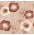 Seamless roses pattern on pink background vector image