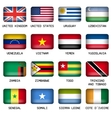 Set of Rectangle World Top States Flags vector image