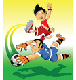 Soccer players cartoon vector image