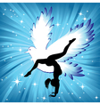 Woman in yoga bird asana sport vector image vector image