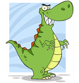 Angry Dinosaur Cartoon Mascot Character vector image vector image