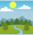 mountain nature landscape vector image