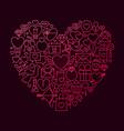 valentine day line icon heart concept vector image