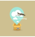 cargo plane icon vector image