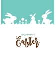 Easter design with cute banny vector image