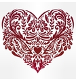 Heart - rustic decorative ornate lace design vector image