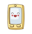 kawaii cellphone with buttons icon vector image