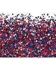 Seamless texture with red and blue glitters vector image