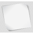 White paper sticker over transparent background vector image