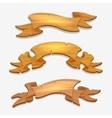 Cartoon wood signs or wooden ribbons vector image