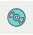 Reel tape deck player recorder thin line icon vector image