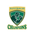 australia rugby champions vector image
