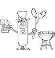 Leprechaun Sausage Cartoon vector image vector image