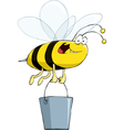 bee with a bucket vector image vector image