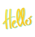 word Hello lettering vector image