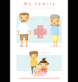 Family background and infographic 3 vector image