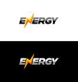 Energy text logo vector image