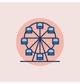 Ferris wheel flat icon vector image