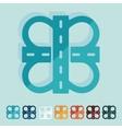 Flat design road vector image