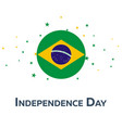 independence day of brazil patriotic banner vector image