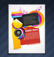 music party template design vector image