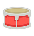 small drum with metal corpus and fabric top vector image