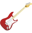 Red electro guitar Music in your life vector image