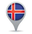 icelandic flag pointer vector image vector image