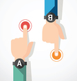 finger touching banner concept vector image