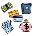 banking icons set 1 vector image vector image