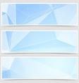 Crystal header collection templates set design vector image vector image