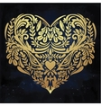 Heart - rustic decorative ornate lace design vector image