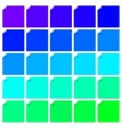 Set of colorful labels with folded corner vector image
