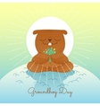 Character marmot vector image