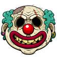 clown zombie vector image