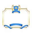 Laurel wreath gold icon shield frame crown vector image