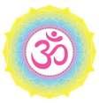 Mandala ornament with Om Aum symbol Vintage vector image