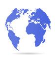 pixel earth globe 8 bit globe vector image