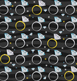 Seamless Pattern with Diamond Rings vector image