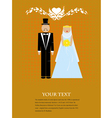 The Couple Wedding vector image