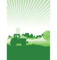 tractor in a field vector image