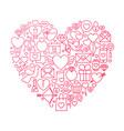 valentine day line icon heart design vector image
