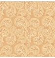 Vintage ethnic background with doodles vector image