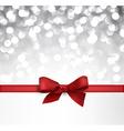 Winter defocused christmas background vector image