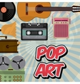 music vintage old popart vector image