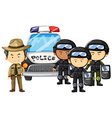 Policeman and SWAT team in uniform vector image
