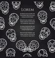 sugar mexican skull chalkboard poster vector image