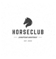 Retro Horse Vintage Insignia or Logotype vector image vector image