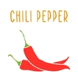 Chili pepper isolated on white vector image